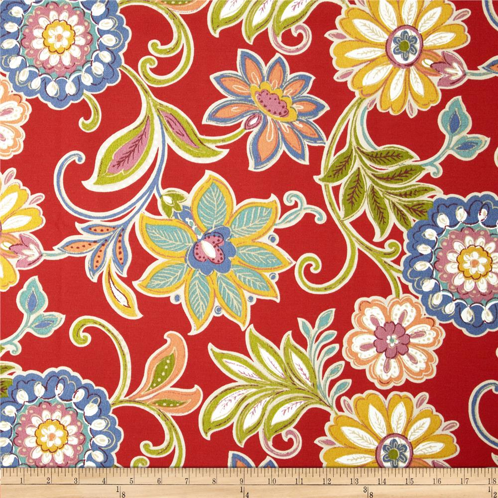 Tempo Indoor/Outdoor Ashley Floral Red/Blue