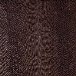 Faux Leather Lizard Cocoa Fabric