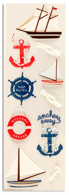 Martha Stewart Crafts Stickers Nautical Sailboats