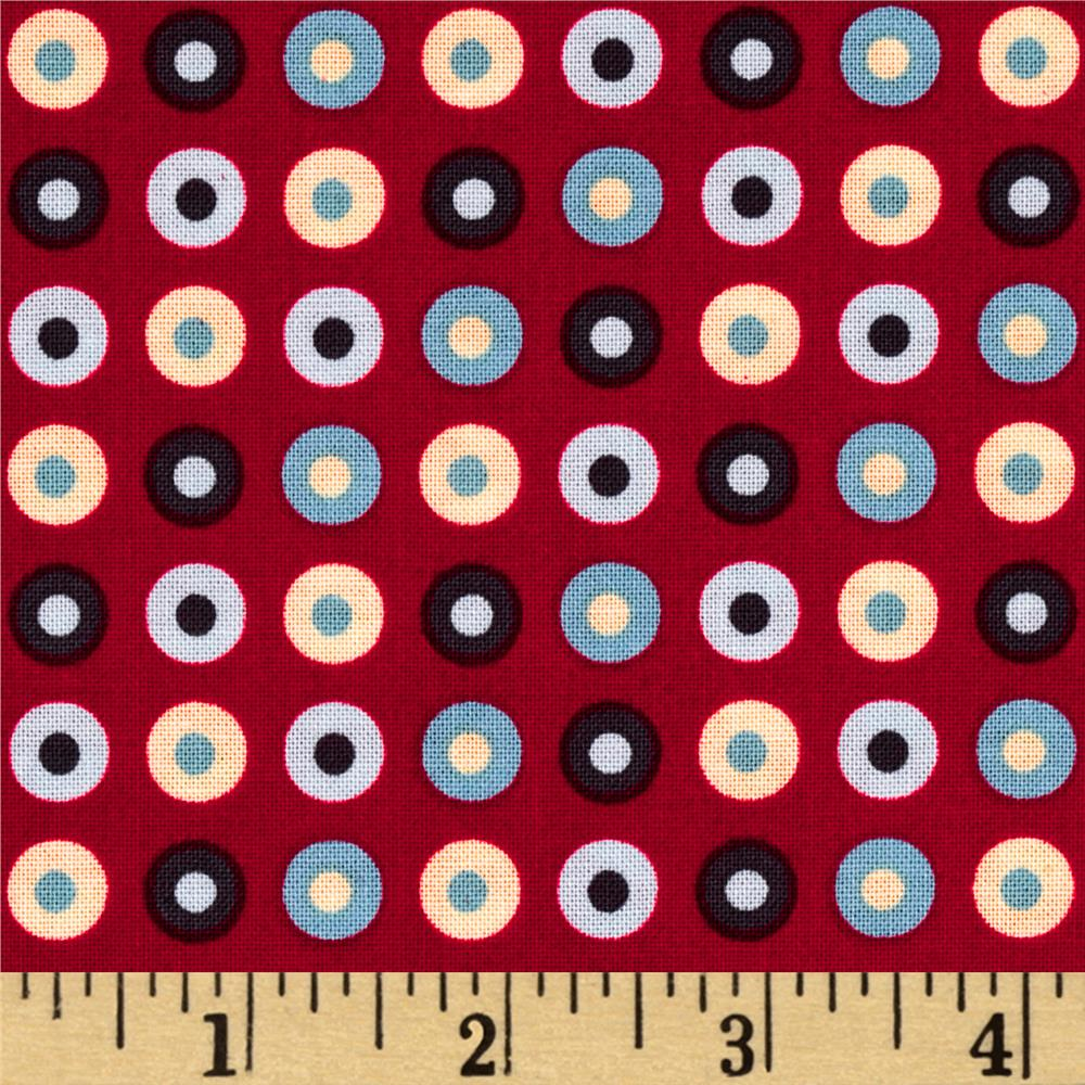 Riley Blake Detour Dots Red