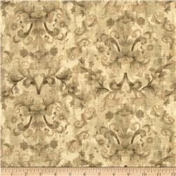 Timeless Treasures Muted Damask Ivory