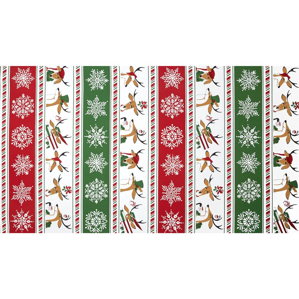 Where's Rudolph? Reindeer Stripe Red/Green