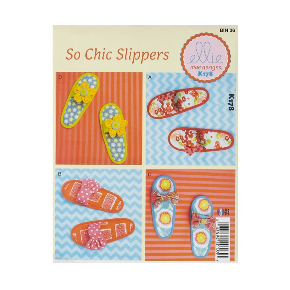 Ellie Mae Designs Misses Slippers Pattern