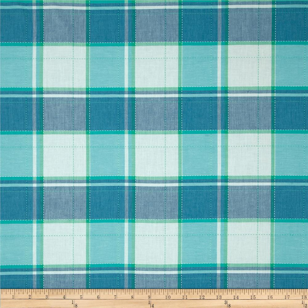 Cotton Oxford Plaid Blue/Green/White