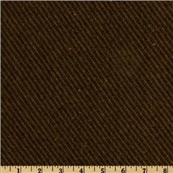 Wool Blend Coating Diagonal Stripe Brown