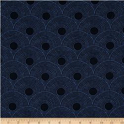Moda True Blue Circles Indigo