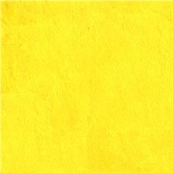 Shannon Minky Cuddle 3 Canary Yellow