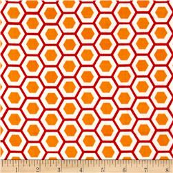 Moda Mixed Bag Flannel Hexy Orange