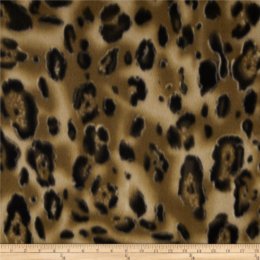 Printed Fleece Cheetah Brown