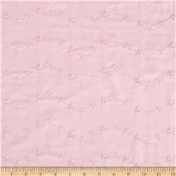 Embroidered Eyelet Pink Fabric