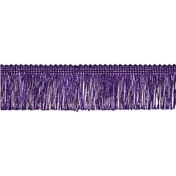 "2"" Metallic Chainette Fringe Trim Purple"