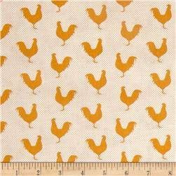 A Day on the Farm Rooster Silhouette Gold/Cream