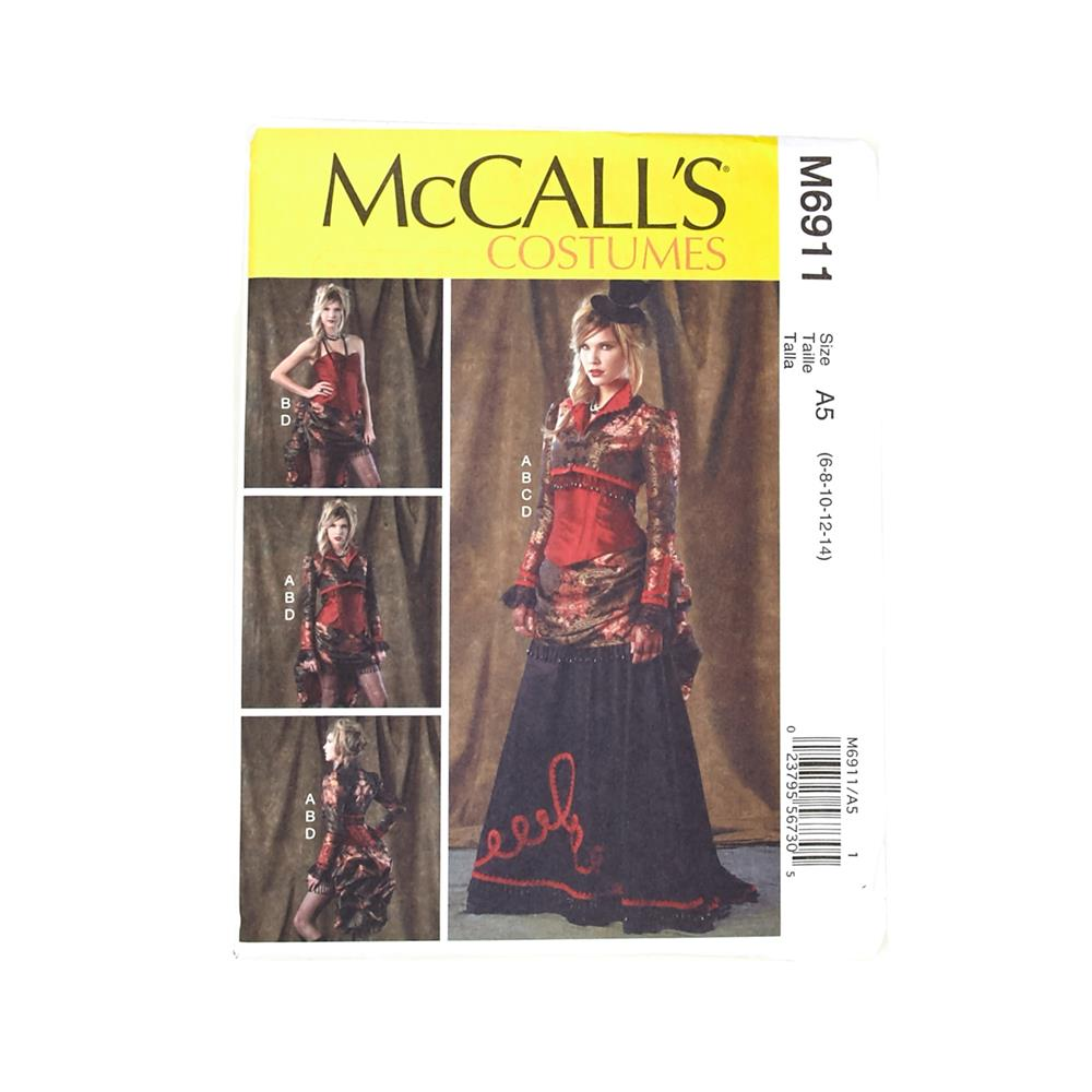 McCall's Misses' Bolero, Corset, Skirt and Overskirt Pattern