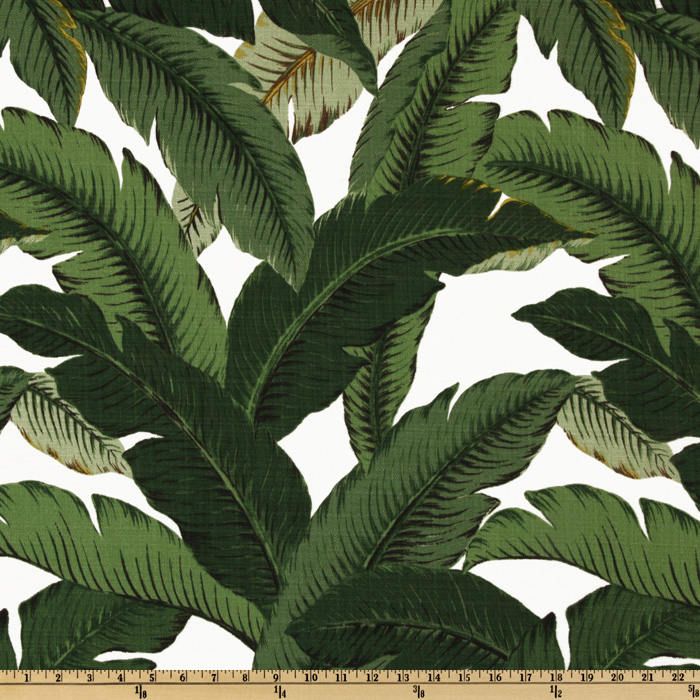 Tommy Bahama Indoor/Outdoor Swaying Palms Aloe Fabric by Waverly in USA