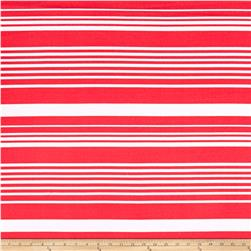 Liverpool Double Knit Stripe Coral/White