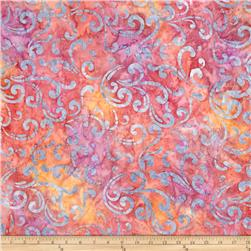 Robert Kaufman Batik Geo Stems Rose
