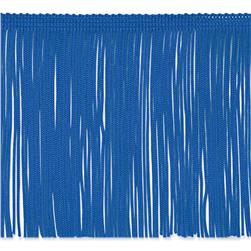 6'' Chainette Fringe Trim Royal Blue Fabric