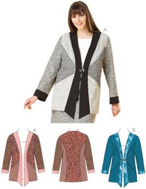 Kwik Sew Semi-fitted Jacket Plus Size Pattern