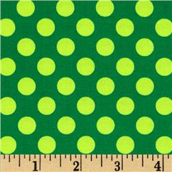 Michael Miller Ta Dot Green Fabric