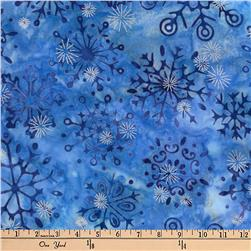 Robert Kaufman Artisan Batiks Metallic Noel Small Flake Medallion Nightfall