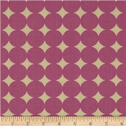 Heather Bailey True Colors Mod Dot Orchid Fabric