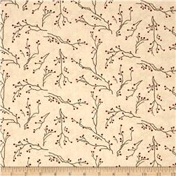 Moda Winter's Song Branches & Berries Ivory