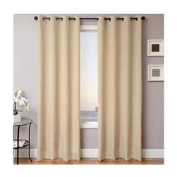Sunbrella 84'' Solid Grommet Outdoor Panel Beige