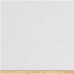 Fabricut Sea Ripple Matelasse White