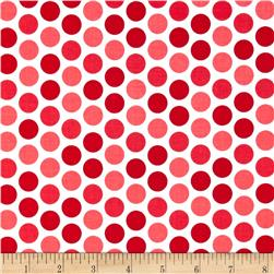 Riley Blake Santa Express Dot Red Fabric