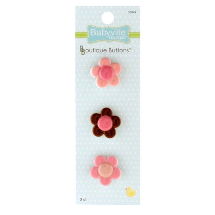 Babyville Boutique Buttons Flower