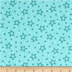 Moda Hugaboo Flannel Starry Airplane Aqua