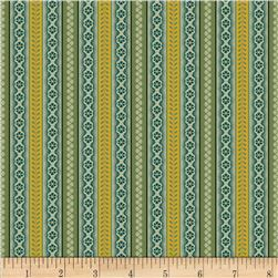 Molly B's 1800's Bessie's Blues Small Stripe Green/Gold