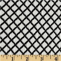 Harmony Jacquard Diamond Knit Black/White Fabric