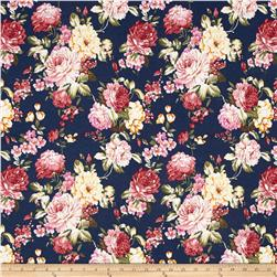 Fashion Printed Denim Garden Florals