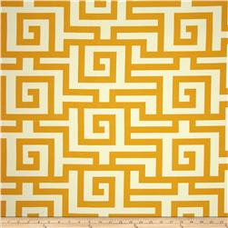 Terrasol Indoor/Outdoor Athens Greek Key Yellow Fabric