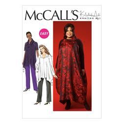 McCall's Misses'/Women's Tunics, Jumper and Pants Pattern M7027 Size B50