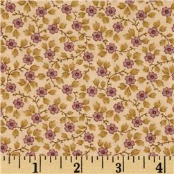 Moda Plum Sweet Posie Antique Cream
