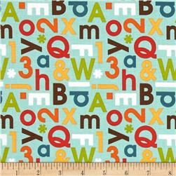 Riley Blake School Days Alphabet Mint