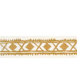 "Isabelle de Borchgrave 2.5"" Diamond Stitch Trim Gold"