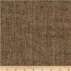 48'' Chevron Burlap Natural/Brown