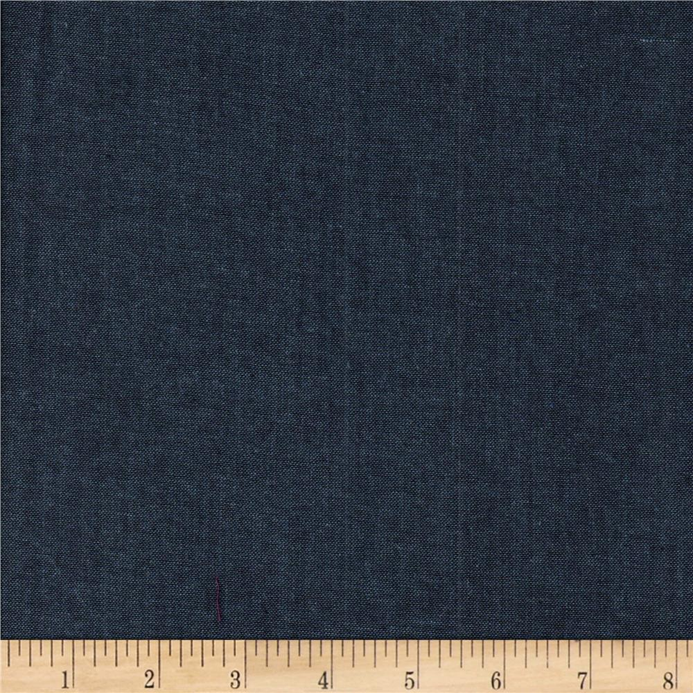 Cotton Yarn Dye Chambray Denim Blue