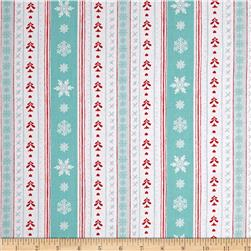 Peppermint Penguin Stripe Aqua