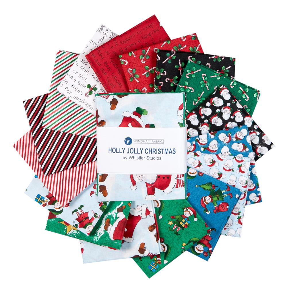 Holly Jolly Christmas.Windham Fabrics Holly Jolly Christmas 18 Fat Quarter Bundle Multi