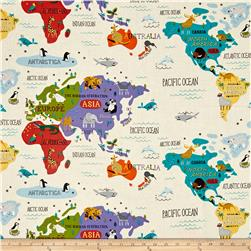 Moda Hello World Map Cream