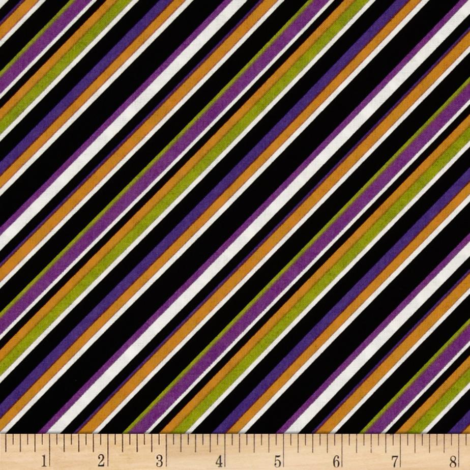 Diagonal Stripe Black/Multi