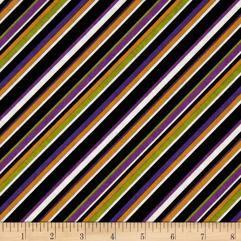 Diagonal Stripe Black/Multi Fabric