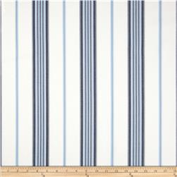Morgan Stripe White/Blue Fabric
