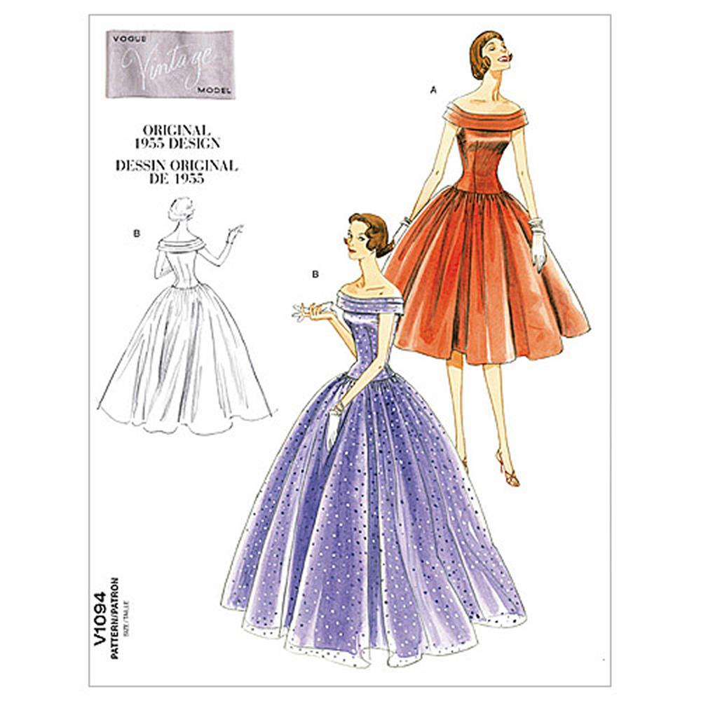 Vogue Misses' Dress Pattern V1094 Size AA0