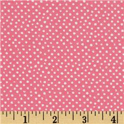 Mini Confetti Dot Coral Fabric