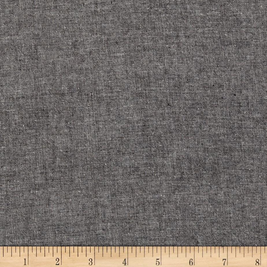 Moda chambray black discount designer fabric for Chambray fabric